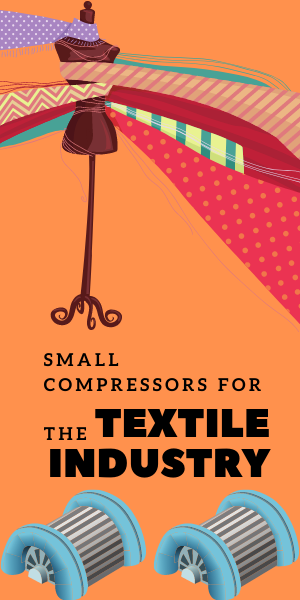 small compressors for the textile industry